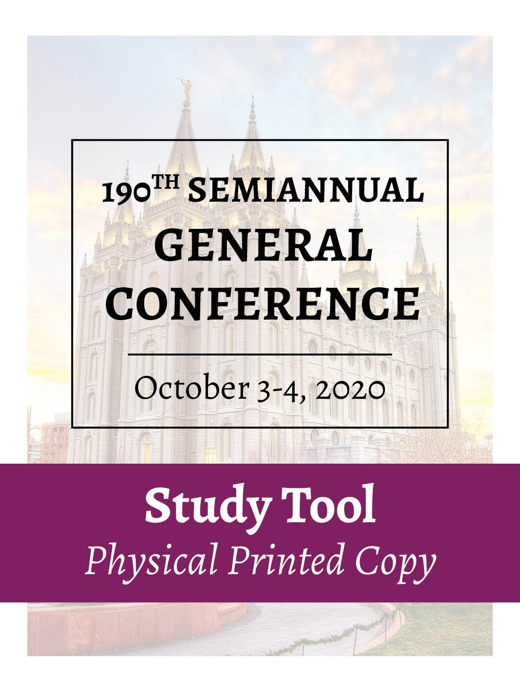 Physical Printed Copy – October 2020 – General Conference Study Tool